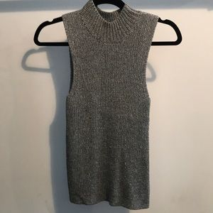 silver THEORY knitted tank